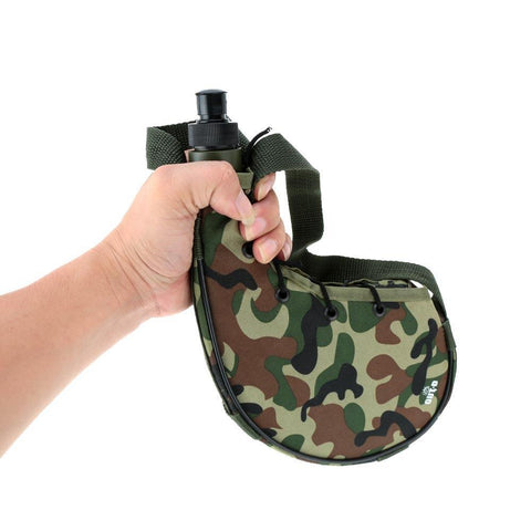 PINkart-USA 750Ml Outdoor Sports Camping Camping Camouflage Water Bottle Canteen For Cycling Camping Tramping