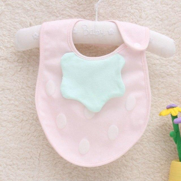 PINkart-USA 8 Baby Cartoon Fruit Bibs Lovely Candy Color Waterproof Bibs Boys Girls Cute Cotton Saliva Towel Born