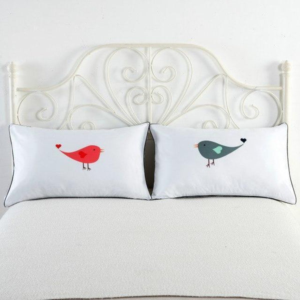 PINkart-USA 8 Newly-Married Couple Lovers Pillowcase Wedding Bedding Plillow Cover King/Queen Wedding Bed