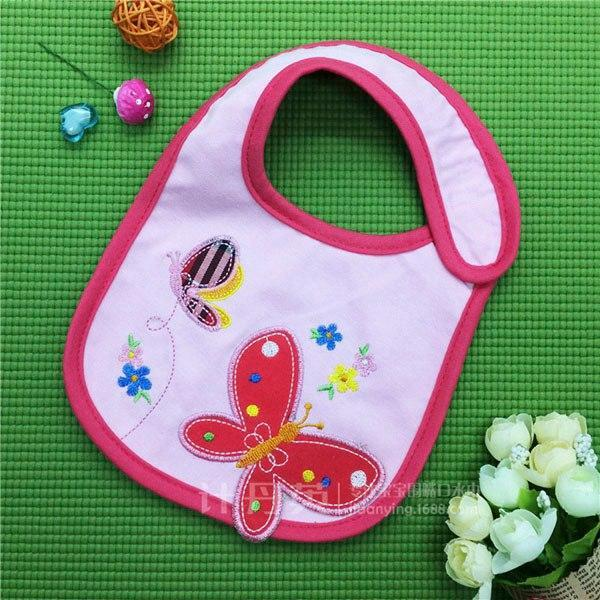 PINkart-USA 9 Baby Cotton Waterproof Bibs Lovely Butterfly Burp Cloth For Girls Sweet Birds Saliva Towels