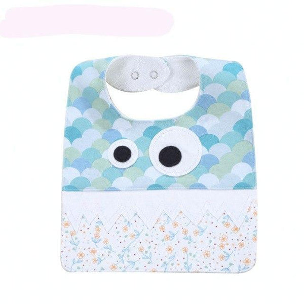 PINkart-USA 9 Big Eye Monster With Cute Teeth Design Baby Bibs Soft Infant Saliva Towel Toddler Absorbent Bandana