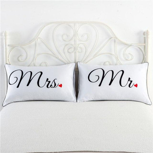 PINkart-USA 9 Newly-Married Couple Lovers Pillowcase Wedding Bedding Plillow Cover King/Queen Wedding Bed