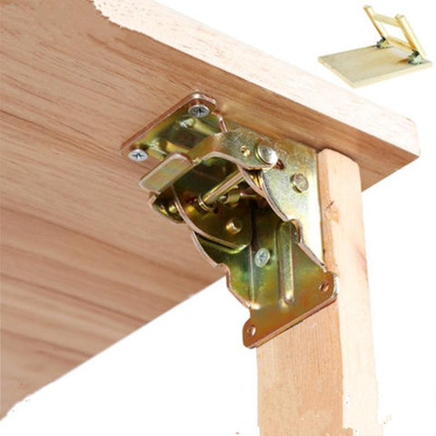 90 Degrees Self-Locking Folding Hinge Dining Table Lift Support Connection Cabinet Hinges Furniture