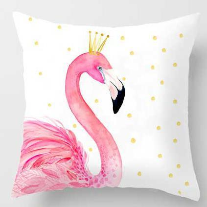 PINkart-USA A14 / 45x45cm Just Cover Pink Girl Princess Cushion Paris Flower Eiffel Tower Wave Flamingo Feathers Ballon Plush Fabric
