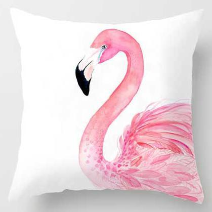 PINkart-USA A15 / 45x45cm Just Cover Pink Girl Princess Cushion Paris Flower Eiffel Tower Wave Flamingo Feathers Ballon Plush Fabric