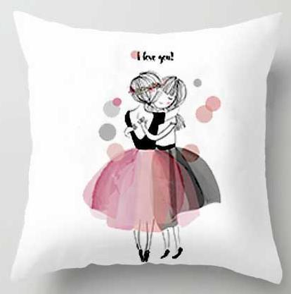 PINkart-USA A5 / 45x45cm Just Cover Pink Girl Princess Cushion Paris Flower Eiffel Tower Wave Flamingo Feathers Ballon Plush Fabric