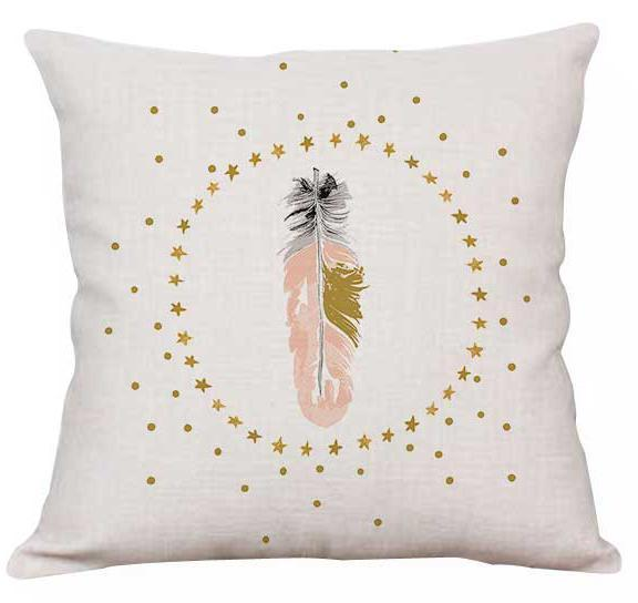 PINkart-USA A9 / 45x45cm Just Cover Pink Girl Princess Cushion Paris Flower Eiffel Tower Wave Flamingo Feathers Ballon Plush Fabric