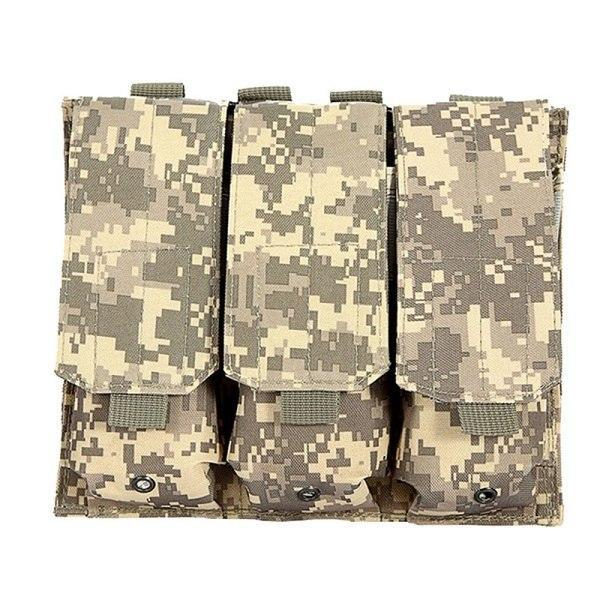 PINkart-USA ACU Molle Tactical Triple Ar15 M4 5.56Mm Mag Magazine Pouch Pistol Handgun Shooting Vest Tool Dump Drop