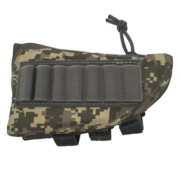 PINkart-USA ACU Outdoor Tactical Buttstock Rifle Stock Ammo Portable Pouch Shell Cartridge Holder Pouch Holder
