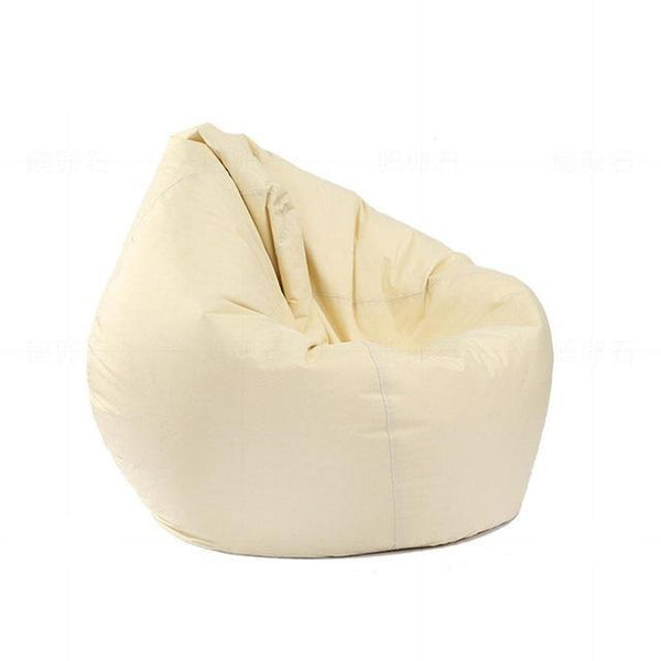 PINkart-USA cream color Adeeing Waterproof Stuffed Animal Storage/Toy Bean Bag Solid Color Oxford Chair Cover