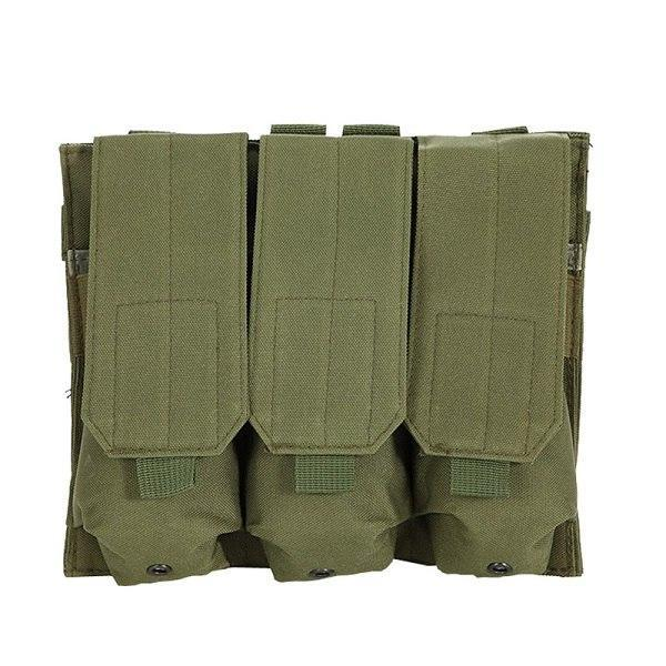 PINkart-USA AG Molle Tactical Triple Ar15 M4 5.56Mm Mag Magazine Pouch Pistol Handgun Shooting Vest Tool Dump Drop