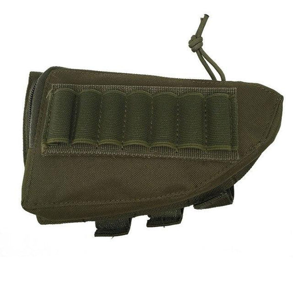 PINkart-USA AG Outdoor Tactical Buttstock Rifle Stock Ammo Portable Pouch Shell Cartridge Holder Pouch Holder