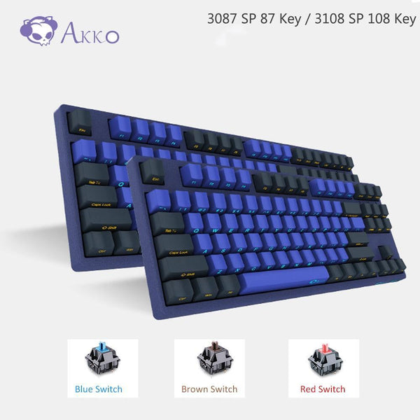 PINkart-USA AKKO 3087/3108 SP Horizon Skyline Gaming Mechanical Keyboard 87/108 Key Cherry MX Switch 85% PBT TYPE-C USB Creative Side Letter