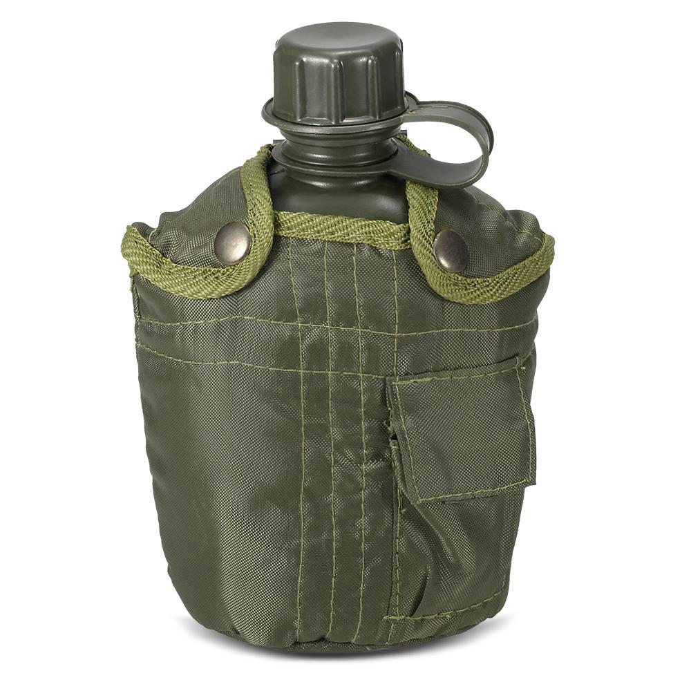 PINkart-USA Army Tactical Water Bottle Outdoor Military Canteen Bottle Camping Hiking Backpacking Survival