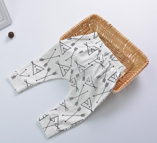 PINkart-USA arrow / 24M Baby Leggings Atutmn Cartoon Baby Leggings Pants Children Trousers Harem Pants Baby Boy Trousers