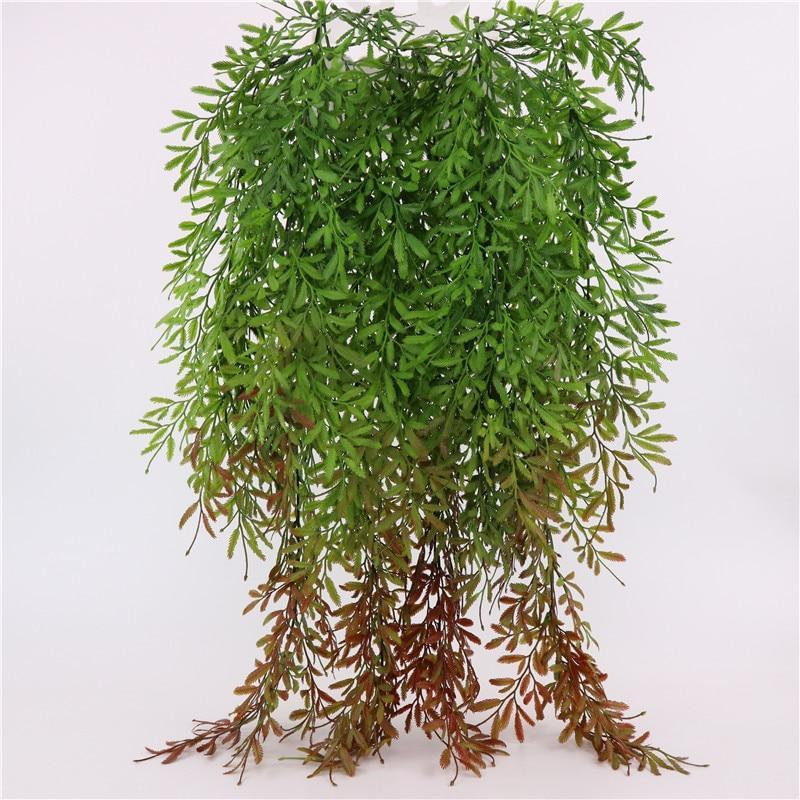 PINkart-USA Artificial Willow Grass Vines Wall Hanging Green Plants Plastics Greenery Leaves For Wedding