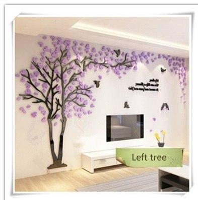 PINkart-USA as photo 1 / M 1.3x2.5m 3D Tree Acrylic Mirror Wall Sticker Decals Diy Art Tv Background Wall Poster Bedroom Living Room