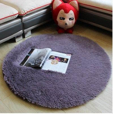 PINkart-USA as photo 11 / 80X80CM Short Pink White Circle Yoga Cushion Solid Computer Cushions Rugs Round Carpets For Living Room Lovely