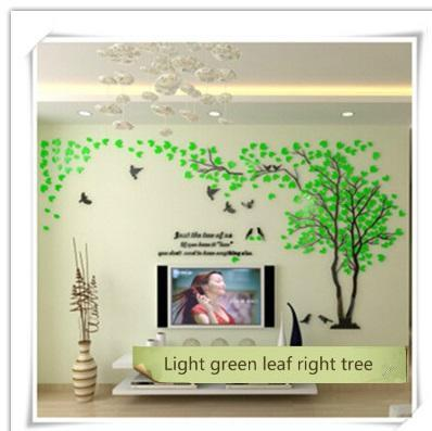 PINkart-USA as photo 5 / M 1.3x2.5m 3D Tree Acrylic Mirror Wall Sticker Decals Diy Art Tv Background Wall Poster Bedroom Living Room