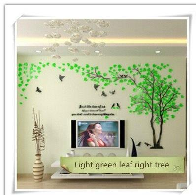 PINkart-USA as photo 5 / M 1.3x2.5m 3D Wall Sticker Tree Acrylic Decorative Diy Art Tv Background Wall Poster Home Decor Bedroom Living