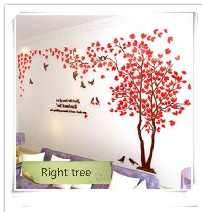 PINkart-USA as photo 7 / M 1.3x2.5m 3D Tree Acrylic Mirror Wall Sticker Decals Diy Art Tv Background Wall Poster Bedroom Living Room