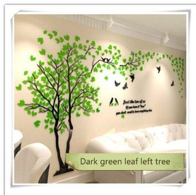 PINkart-USA as photo 8 / M 1.3x2.5m 3D Tree Acrylic Mirror Wall Sticker Decals Diy Art Tv Background Wall Poster Bedroom Living Room