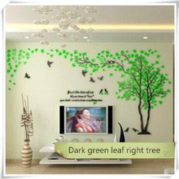 PINkart-USA as photo 9 / M 1.3x2.5m 3D Tree Acrylic Mirror Wall Sticker Decals Diy Art Tv Background Wall Poster Bedroom Living Room