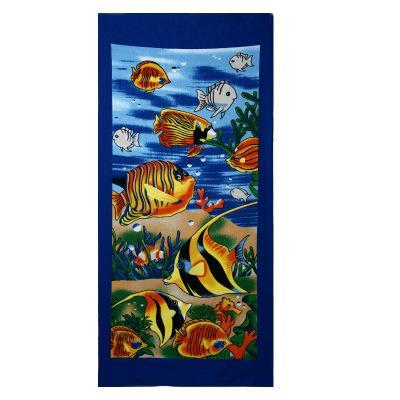 Men Big Beach Towels Tiger Horse Dolphin Microfiber Fabric 70*140Cm Bath Towel Hotel Large Beach
