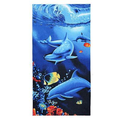 PINkart-USA as photos 17 / 70x140cm Men Big Beach Towels Tiger Horse Dolphin Microfiber Fabric 70*140Cm Bath Towel Hotel Large Beach
