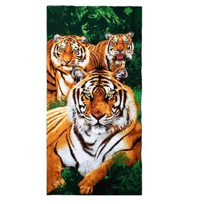 PINkart-USA as photos 2 / 70x140cm Men Big Beach Towels Tiger Horse Dolphin Microfiber Fabric 70*140Cm Bath Towel Hotel Large Beach