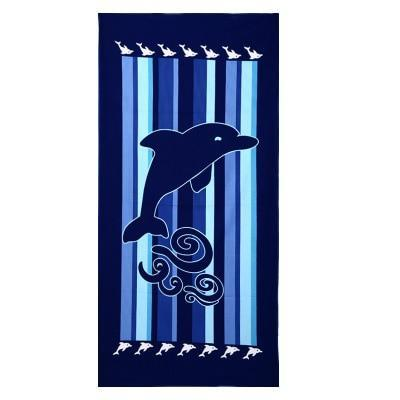 PINkart-USA as photos 22 / 70x140cm Men Big Beach Towels Tiger Horse Dolphin Microfiber Fabric 70*140Cm Bath Towel Hotel Large Beach