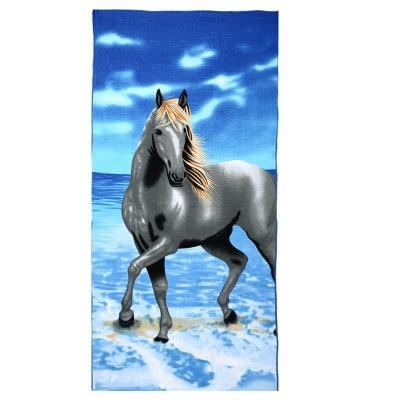 PINkart-USA as photos 4 / 70x140cm Men Big Beach Towels Tiger Horse Dolphin Microfiber Fabric 70*140Cm Bath Towel Hotel Large Beach