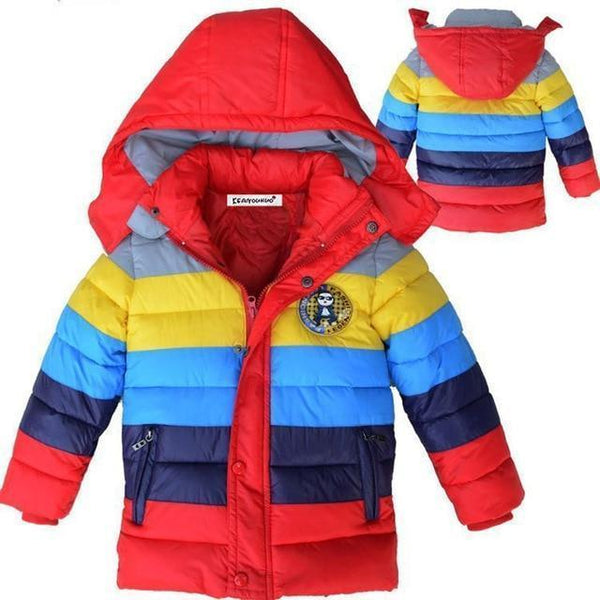 PINkart-USA as picture 2 / 4T Kids Coat Autumn Winter Boys Jacket For Boys Children Clothing Hooded Outerwear Baby Boy Clothes