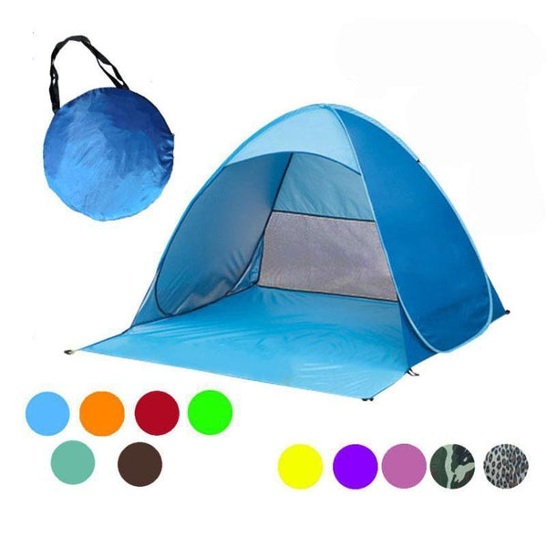 PINkart-USA Automatically Set Up Camping Beach Shade Tent To Open Quickly Outdoor Uv50+ Protection Pop Up Throw