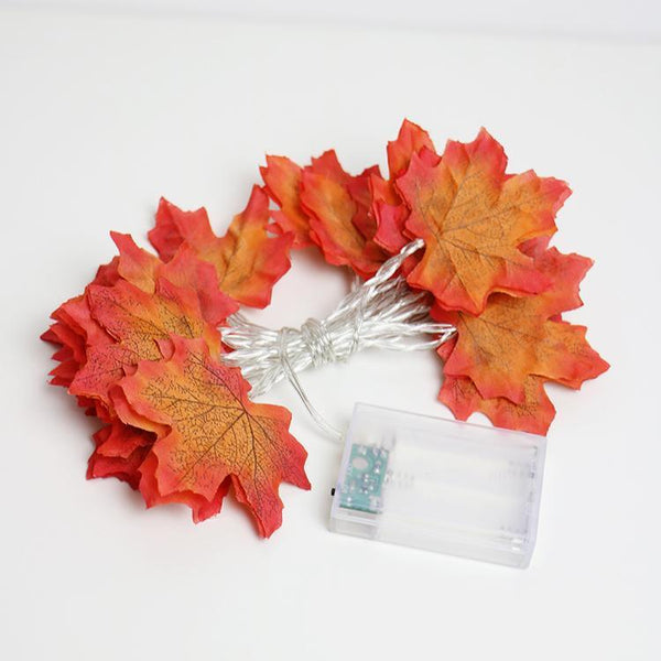 PINkart-USA Autumn Maple Leaves Garland Led Fairy String Light, Aa Battery Holiday Party Light ,Flower