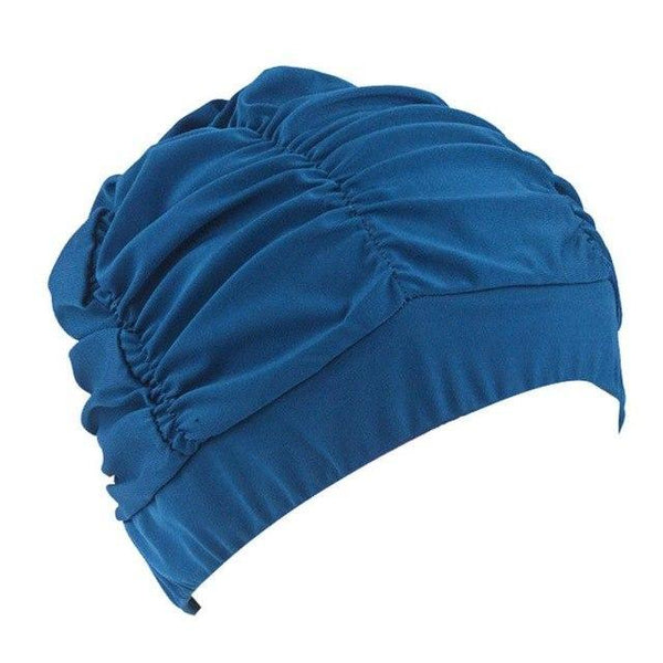 PINkart-USA B / One Size Fit All / China Swimming Hat Women Unisex Girls Long Hair Bathing Cap Vocational Swimming Cap Stretch Drape Swim