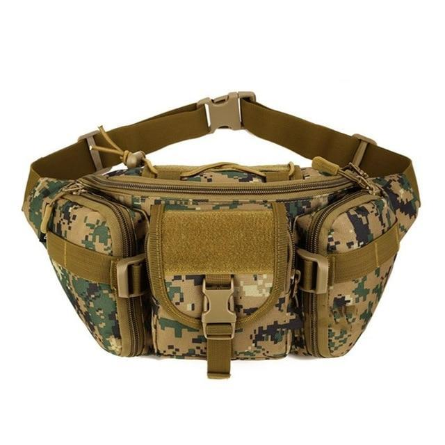PINkart-USA B / Other 5 Colors Tactical Molle Bag Waterproof Waist Fanny Pack Hiking Fishing Sports Hunting Waist Bags