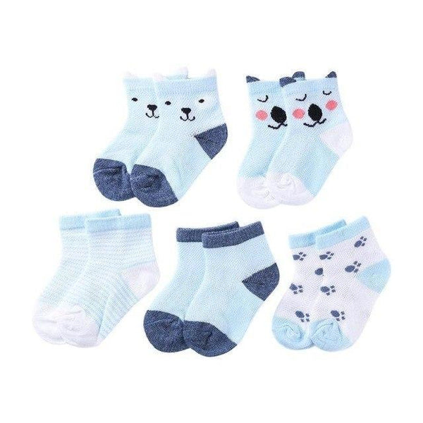 PINkart-USA B / S 5Pairs/Lot Cartoon Toddlers Kids Socks Cute Baby Boys Girls Cotton Socks Baby Boys Girls Sock