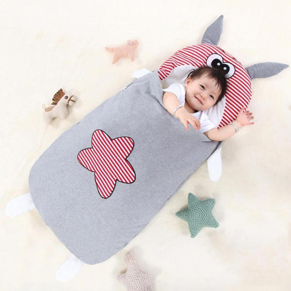 PINkart-USA Baby Bedding Baby Sleeping Bags Kids Sleeping Sack Cartoon Animals Baby Sleeping Bag Cotton