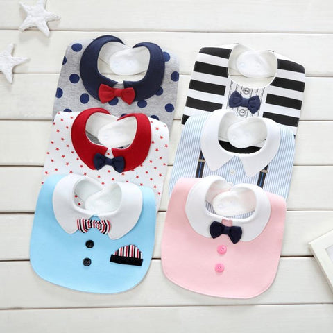 PINkart-USA Baby Fashion Waterproof Bibs Cotton Print Burp Cloths For Boys Girls Infant Cute Saliva Towel