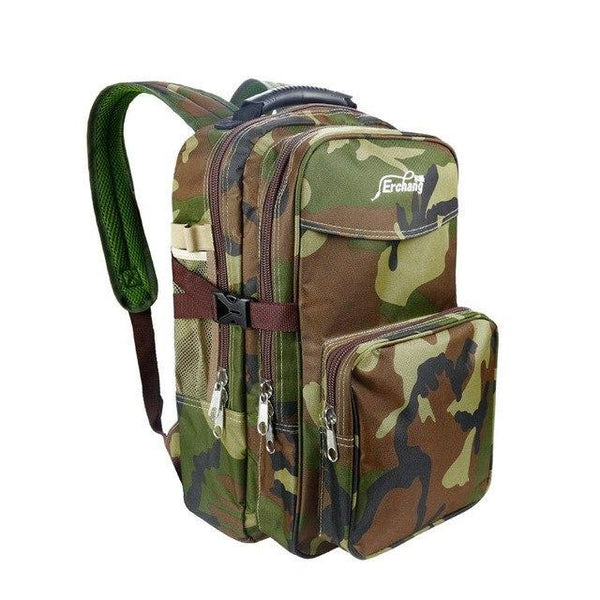 PINkart-USA Backpack-D / China Outdoor Leisure Fishing Backpack Large Capacity Hiking Camping Shoulder Bag Men Military Camouflage
