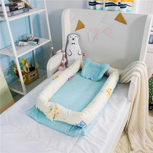 PINkart-USA Barking team Portable Baby Nursery Nest Bed Cot Born Bionic Bed Crib Cot Infant Toddler Sleeping Size Bed