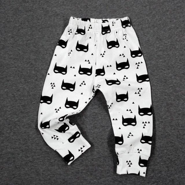PINkart-USA bat / 24M Baby Leggings Atutmn Cartoon Baby Leggings Pants Children Trousers Harem Pants Baby Boy Trousers
