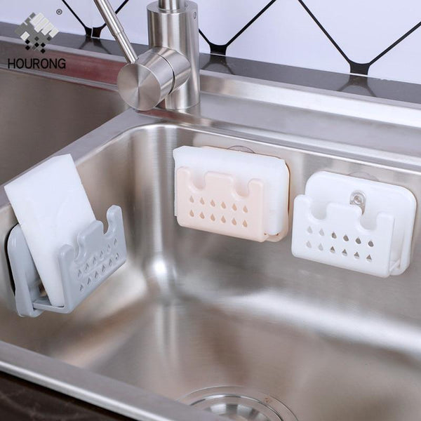 PINkart-USA Bathroom Kitchen Sink Storage Holder Sponges Soaps Rack Organizer Scrubbers Dry Water Basket Strong