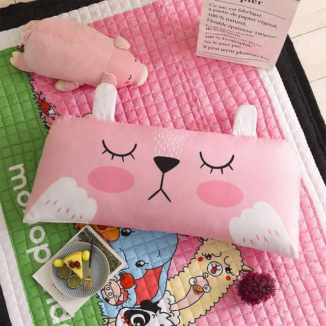 PINkart-USA rabbit / 50x110cm 20x44in Cartoon Children'S Big Pillow Living Room Bedroom Large Cushions Home Bedside Decor Back Pillows