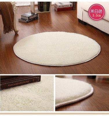 PINkart-USA beige / 80X80CM Short Pink White Circle Yoga Cushion Solid Computer Cushions Rugs Round Carpets For Living Room Lovely