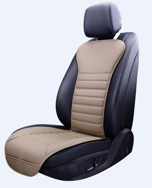 PINkart-USA beige front / China New Arrival Pu Leather Not Moves Seat Cushions, Non-Slide Car Seat Cushion, Not Moves Car