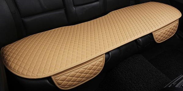 PINkart-USA beige rear / China Brand New Arrivial Not Moves Car Seat Cushions, Universal Pu Leather Non Slide Seats Cover Fits For
