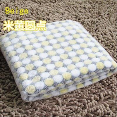 PINkart-USA Beige / S Soft Flannel Pet Dog Blanket Dots Printed Breathable Dog Cat Bed Mat Warm Pet Sleeping Cushion