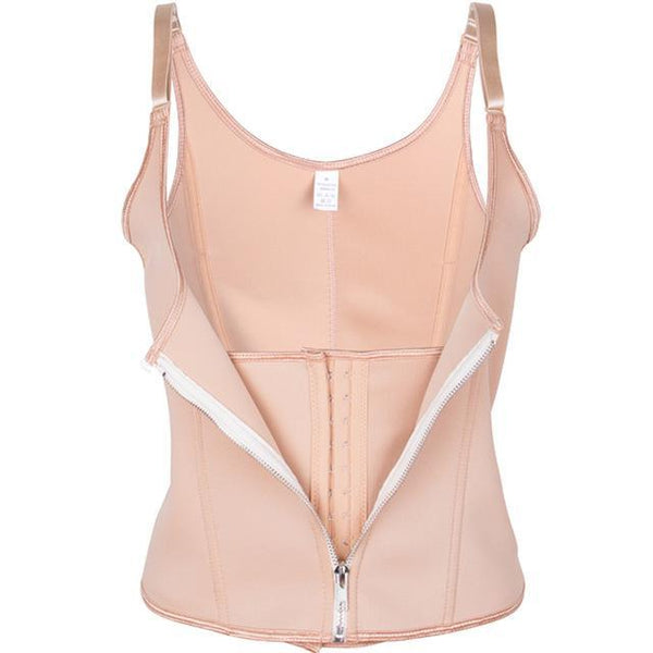 PINkart-USA beige / XXL Sexy Women Slimming Belt Corset Neoprene Waist Trainer Body Shaper Modeling Strap Shapewear Chest